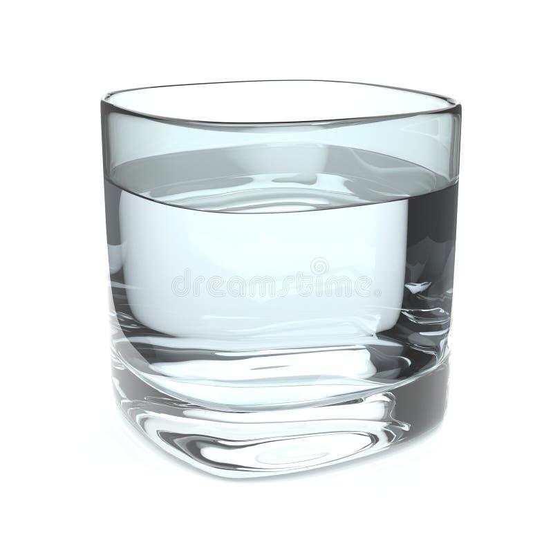 Wasser-Glas stock abbildung