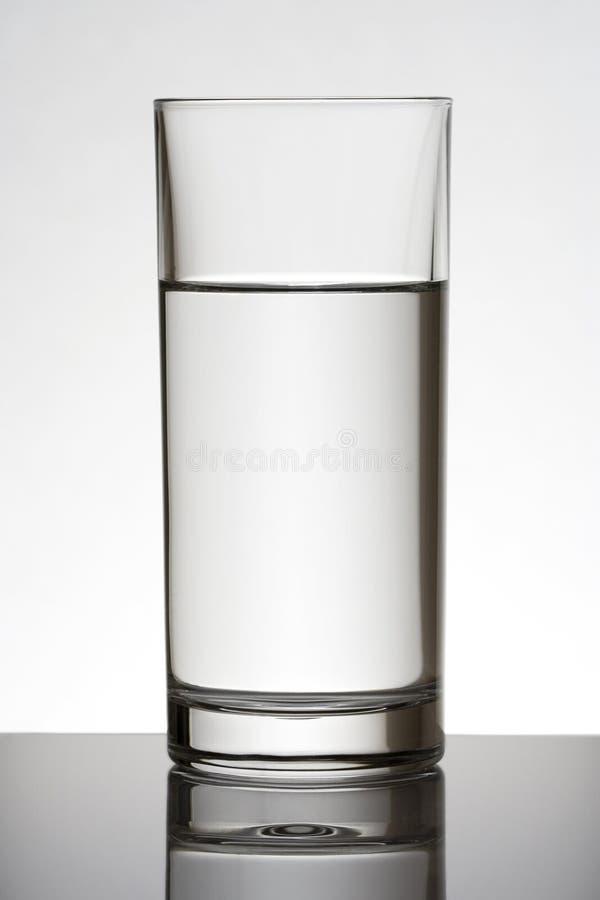 Wasser-Glas stockfoto
