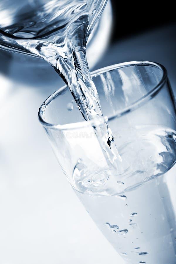 Wasser im Glas lizenzfreie stockfotografie