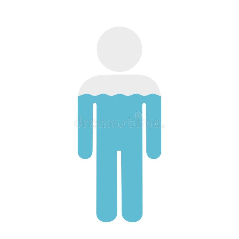 Wasser im menschlichen Körper lizenzfreie abbildung