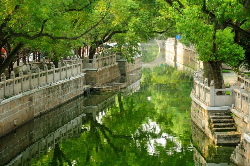 Wasser-Kanal in Shanghai stockfotografie