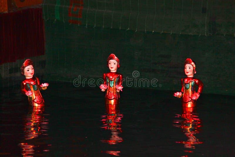 Wasser-Marionetten, Hanoi, Vietnam stockfoto