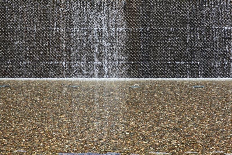 Wasser-Merkmalswand stockbild