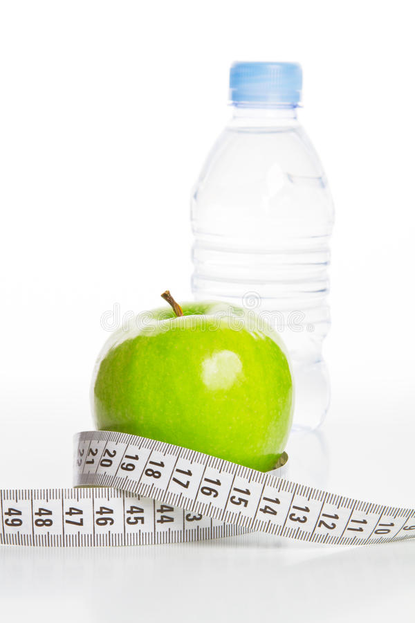 Wasser, Nahrung für Diät stockbild
