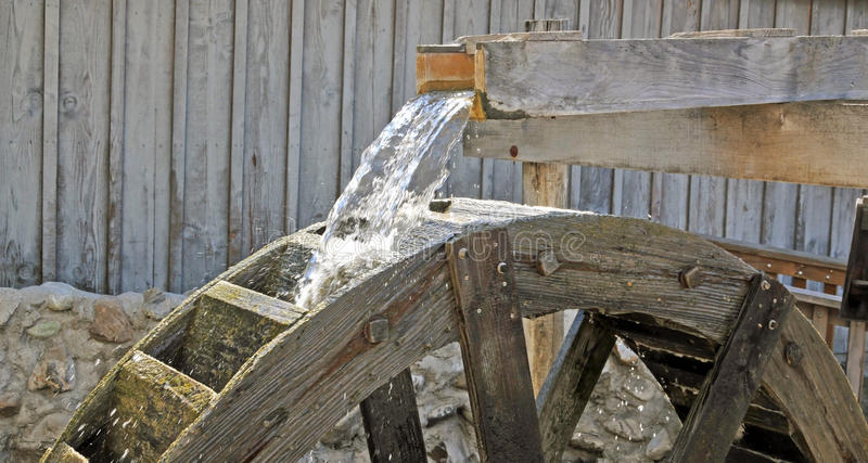 Wasser-Rad stockfoto