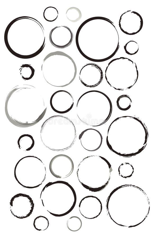 Wasser-Ringe eingestellt stockbilder