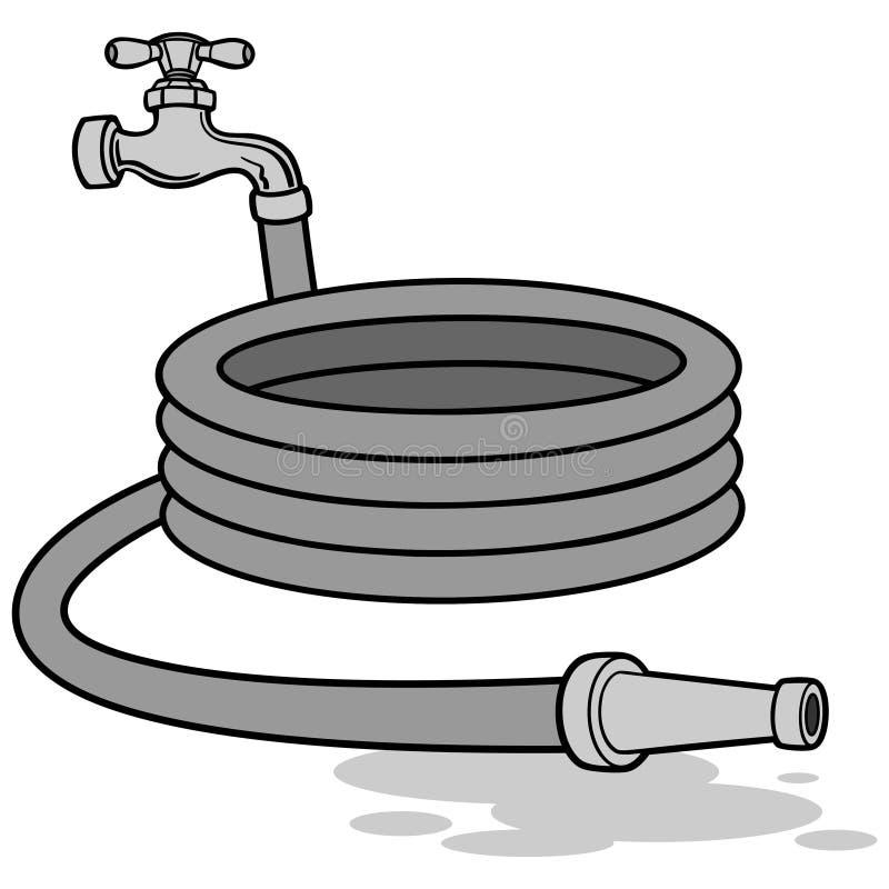 Wasser-Schlauch-Illustration lizenzfreie abbildung