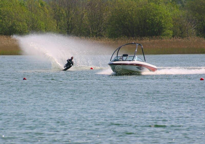 Wasser-Skifahrer stockfotos