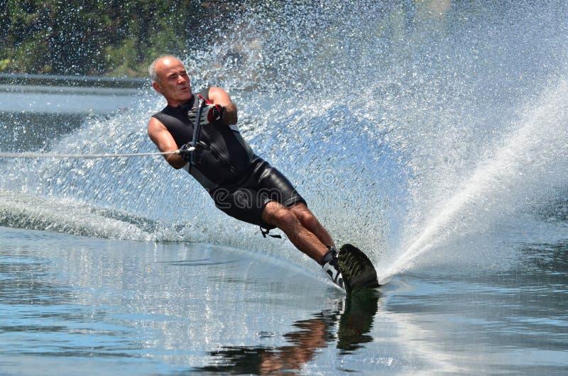 Wasser-Sport - Wasser-Skifahren stockbild