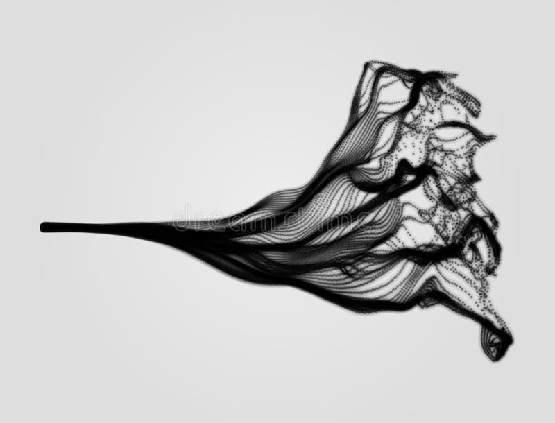 Wasser-Spritzen-Nachahmung Reihe mit dynamischen ausgestrahlten Partikeln vektor abbildung