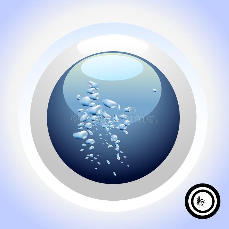 Wasser-Taste vektor abbildung