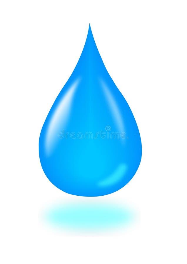 Wasser-Tropfen stock abbildung
