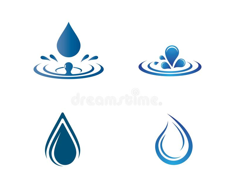 Wasser-Tropfen Logo Template stock abbildung