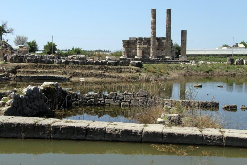 Wasser und Ruinen lizenzfreie stockfotografie
