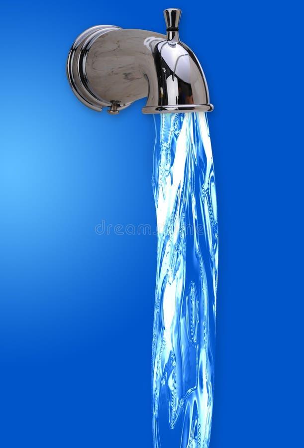 Wasser vom Hahn vektor abbildung