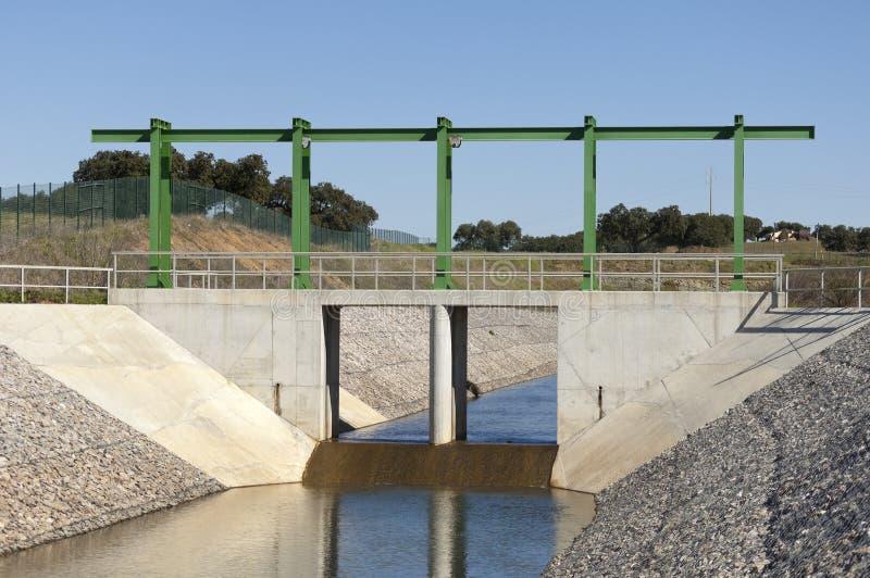 Wasserablenkungkanal stockbild