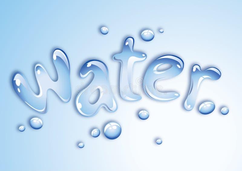 Wasserauslegung lizenzfreie abbildung