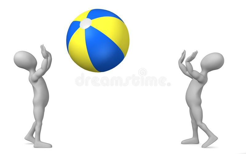 Wasserball lizenzfreie abbildung