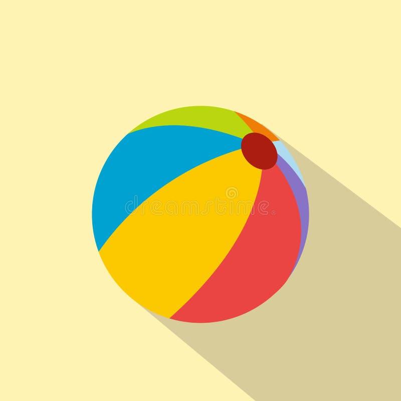 Wasserball flache Ikone vektor abbildung