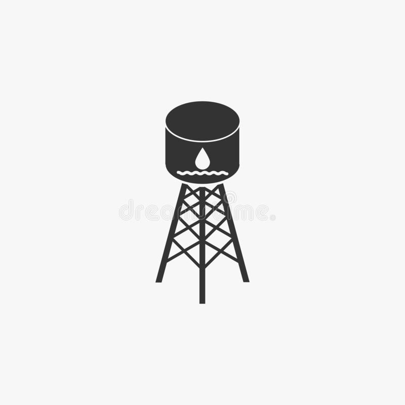 Wasserbehälterikone, Wasser, Behälter, Zylinder lizenzfreie abbildung