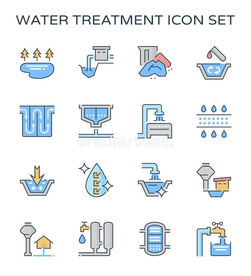 Wasserbehandlungsikone lizenzfreie abbildung