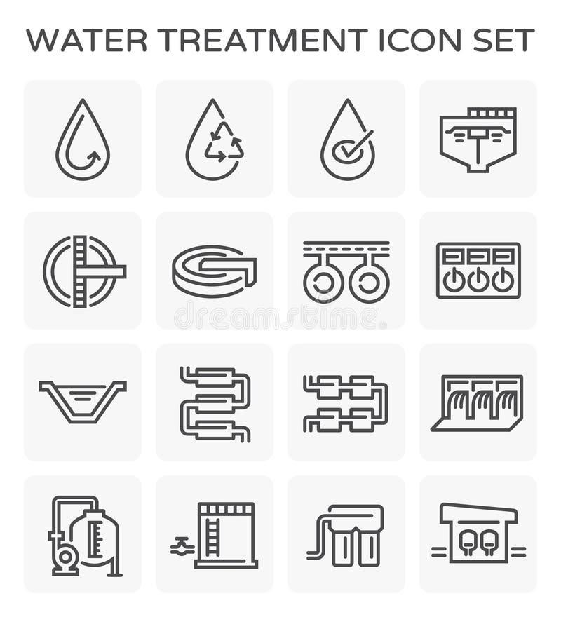 Wasserbehandlungsikone vektor abbildung