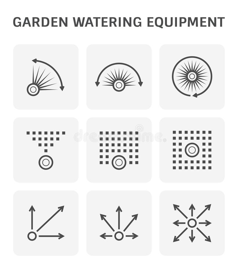 Wasserberieselungsanlagenspray lizenzfreie abbildung