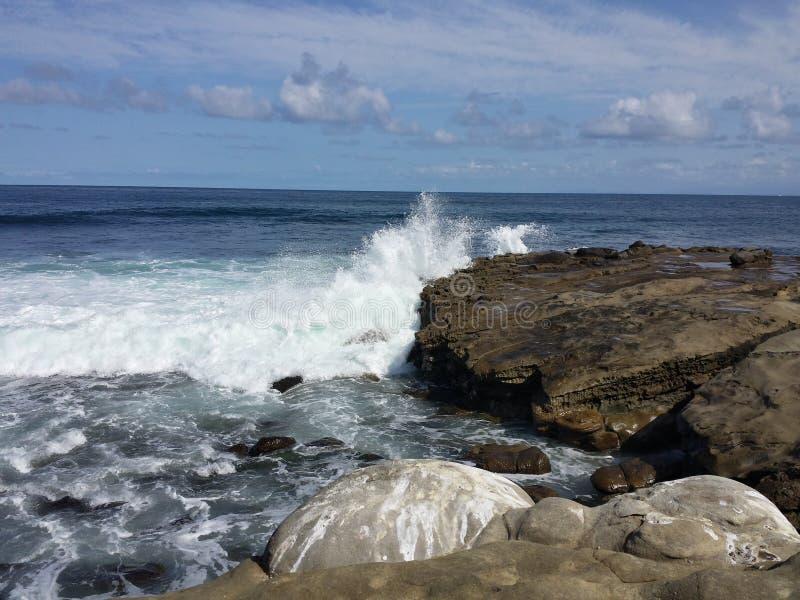 Wasserbrüche an der Bucht stockbild