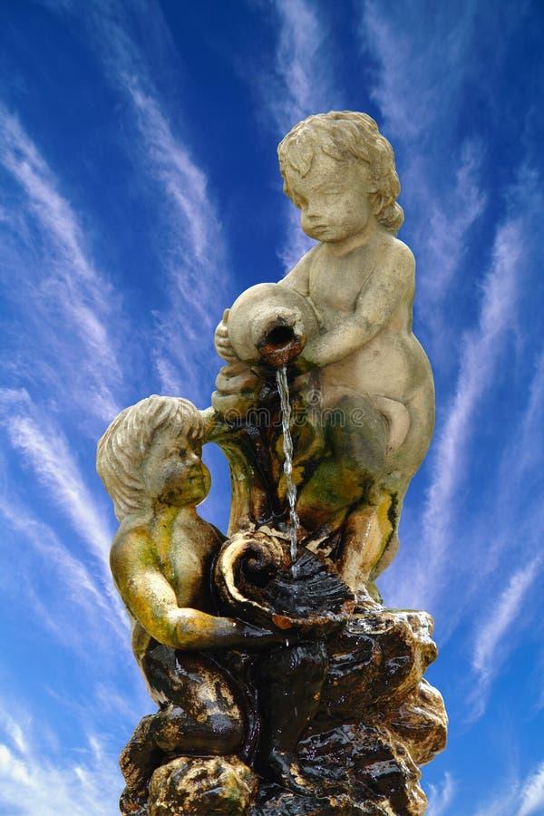 Wasserbrunnen stock abbildung