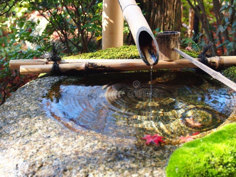 Wasserbrunnen, Japanischer Garten, Zen Garden, Bambuswasser ...