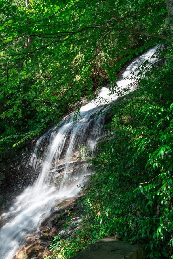 Wasserfälle auf blauen Ridge Trail stockfotografie