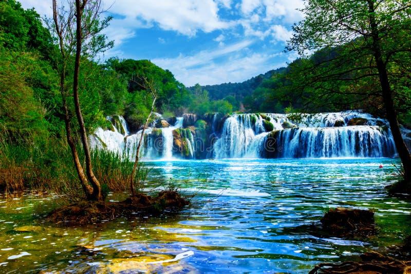 Wasserfälle des Krka lizenzfreies stockfoto