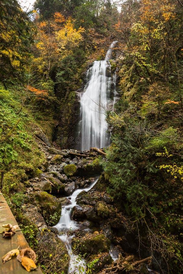 Wasserfälle im Herbst lizenzfreies stockfoto