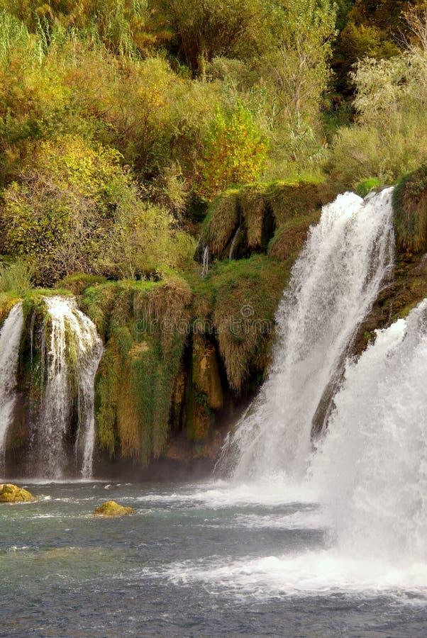 Wasserfälle, Kroatien stockbilder