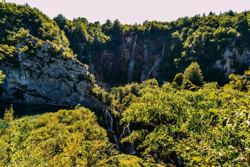 Wasserfälle von Plitvice Seen Nationalpark, Kroatien stockbild