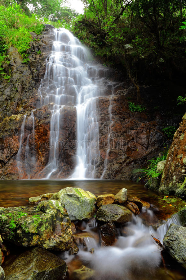 Download Wasserfall stockbild. Bild von park, niemand, wolke, blau - 26352755