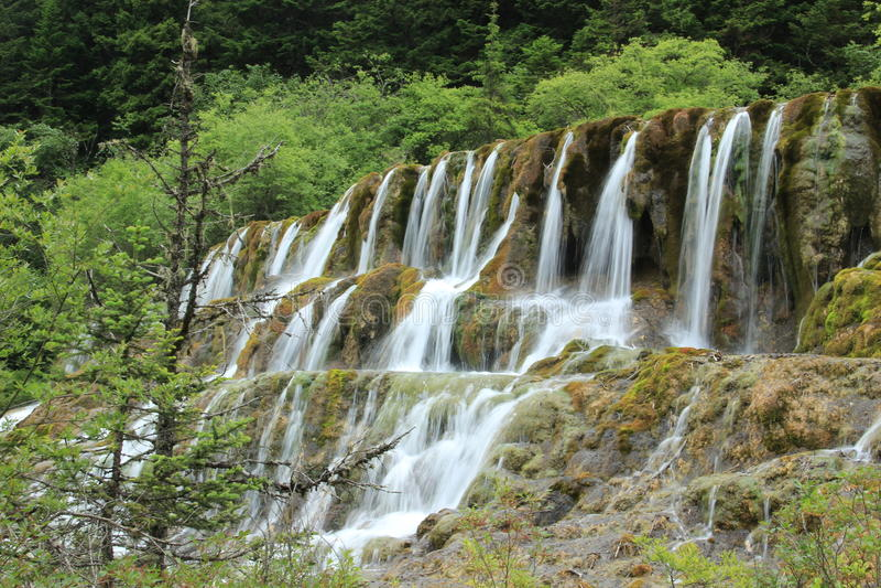 Wasserfall Chinas Jiuzhaigou lizenzfreies stockfoto