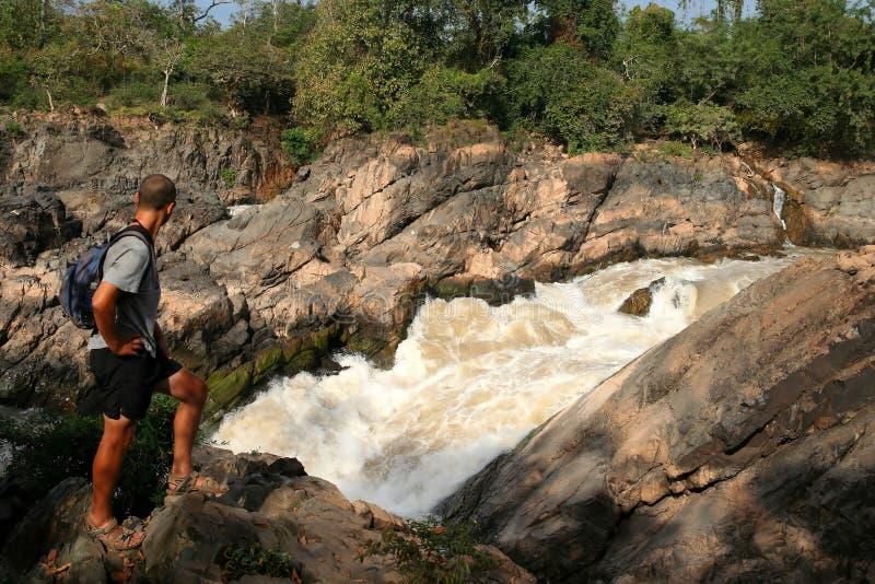 Wasserfall Don-Khon stockfotografie
