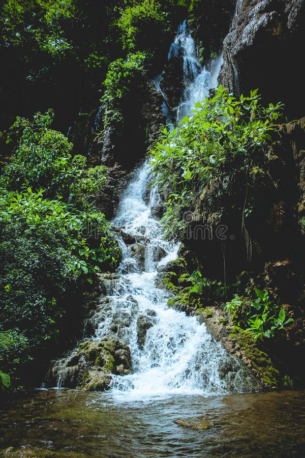 Wasserfall Goa Tetes lizenzfreie stockfotografie
