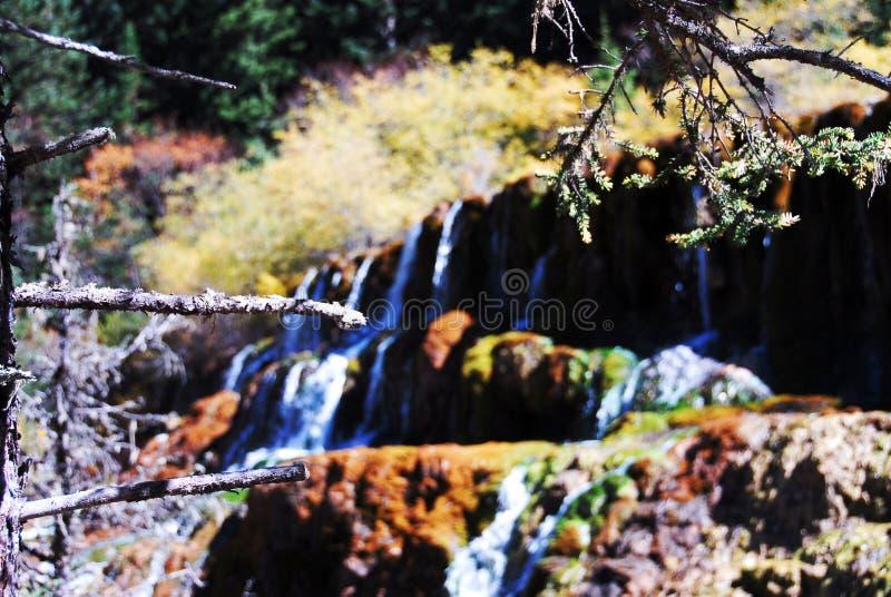 Wasserfall in Huanglong lizenzfreies stockfoto