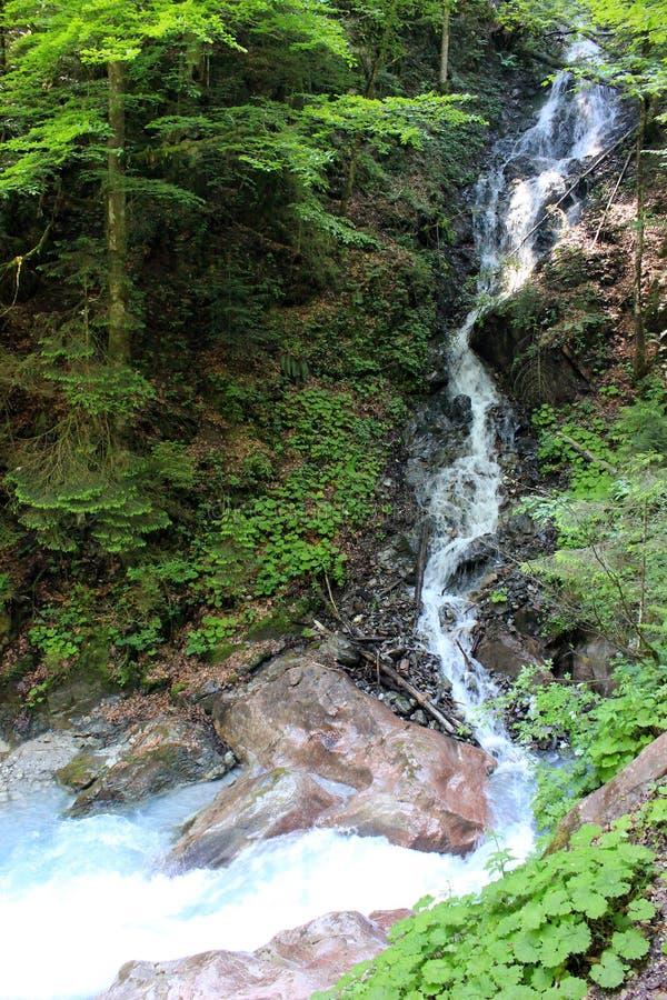 Wasserfall im Bayern, Deutschland stockbild