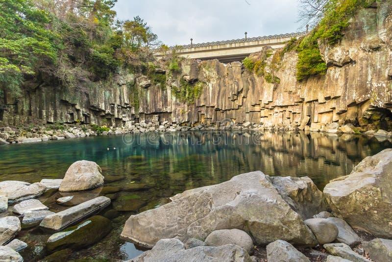 Wasserfall Jeju lizenzfreie stockfotos