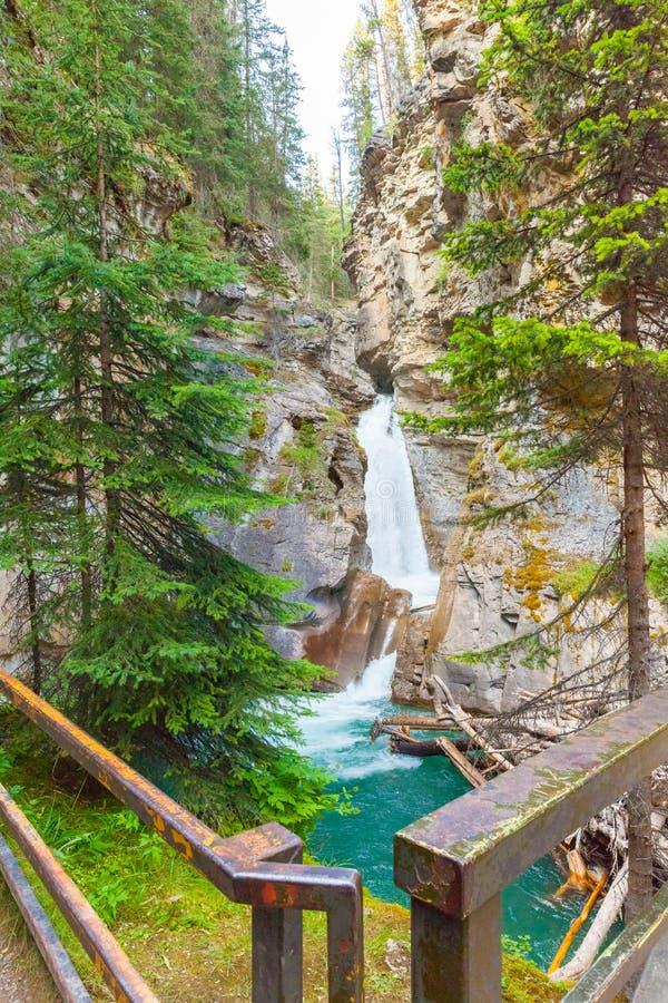 Wasserfall in Johnston-Schlucht stockfotos