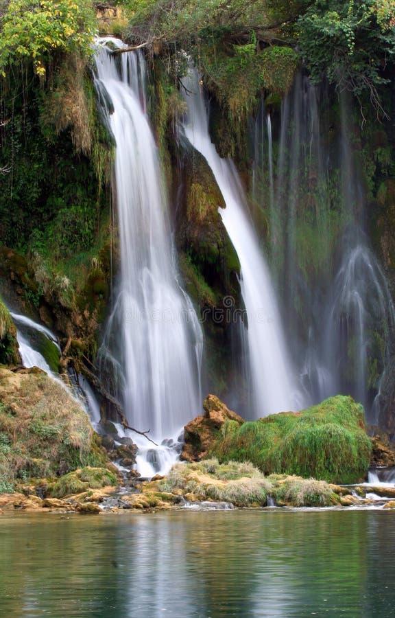 Wasserfall Kravice lizenzfreie stockbilder