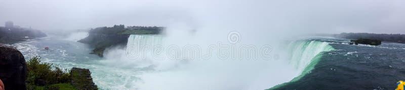 Wasserfall-Panorama gestaltet Niagara Falls, Toronto landschaftlich lizenzfreie stockbilder