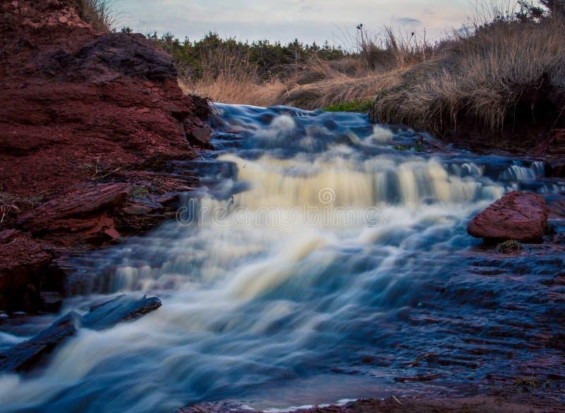 Wasserfall in Prinzen Edward Island stockbild