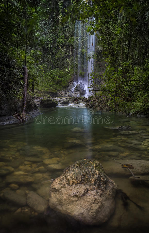 Wasserfall in Puerto Rico lizenzfreies stockbild