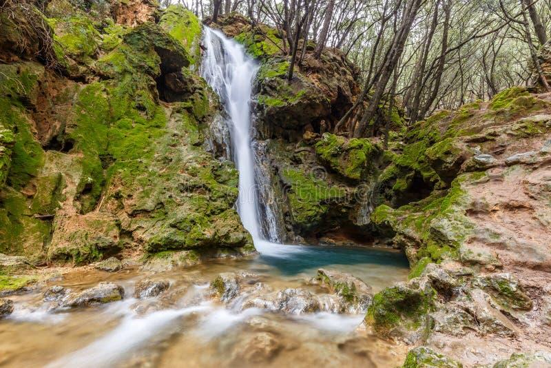 Wasserfall Salt des Freu bei Orient, Mallorca lizenzfreie stockfotos
