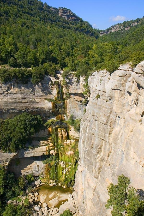 Wasserfall Salzde-Sallent lizenzfreies stockfoto