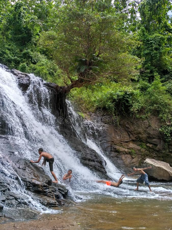 Wasserfall sindaro lizenzfreies stockbild